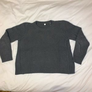 Margaret O'Leary | Cotton Ribbed Sweater, Grey, L